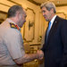During a visit to Cairo on Sunday, Secretary of State John Kerry urged military leaders, including Gen. Abdul-Fattah el-Sisi, right, to stick to their