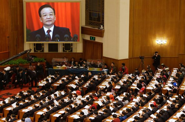 Wen Jiabao, China's former prime minister, at the National People's Congress in Beijing earlier this year.