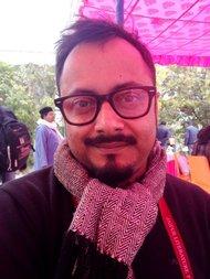 Vishwajyoti Ghosh, artist and graphic novelist.