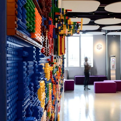 LEGO wall at Yotel