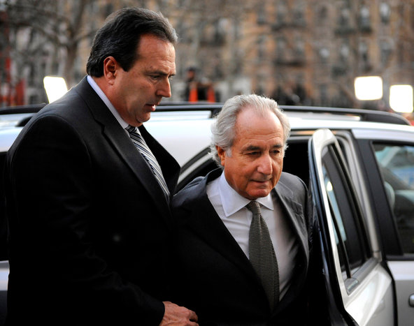 Bernard L. Madoff at the federal courthouse in Manhattan on March 12, 2009, when he pleaded guilty to fraud.