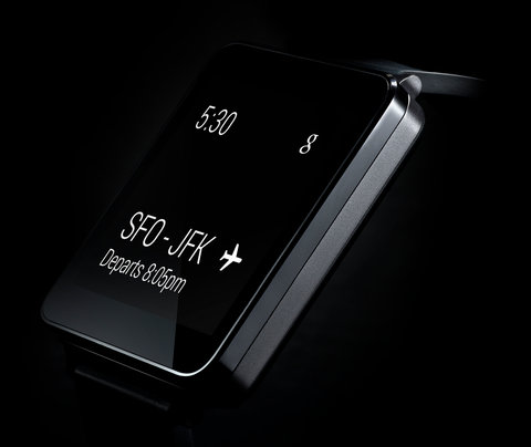The LG G Watch will be compatible with a wide range of Android phones and will display relevant information when prompted by a voice command.