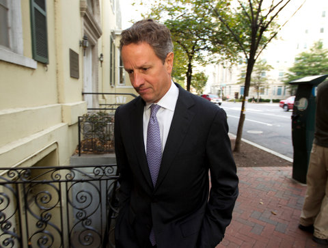 Timothy Geithner, former Treasury secretary, testified in a lawsuit brought against the government over its bailout of A.I.G.