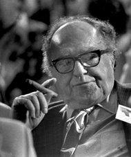 Meade H. Esposito, the Brooklyn Democratic boss, at the 1974 convention in Niagara Falls.