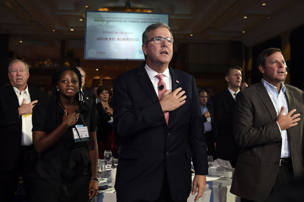 Former Gov. Jeb Bush of Florida at the National Summit on Education Reform in Washington last month.