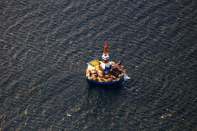 The Kulluk in the Beaufort Sea as it prepared to drill an exploratory well in October 2012.