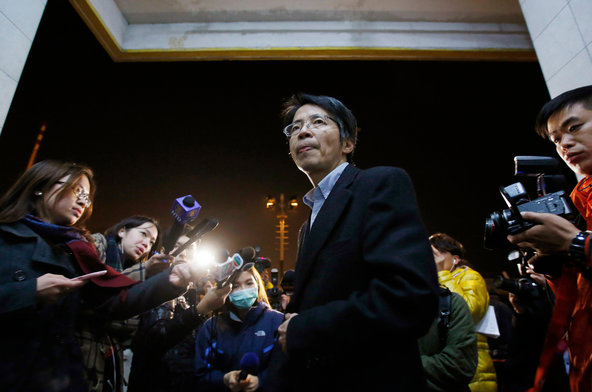 Kevin Lau Chun-to in January 2014, after his dismissal as editor of the Hong Kong newspaper Ming Pao.