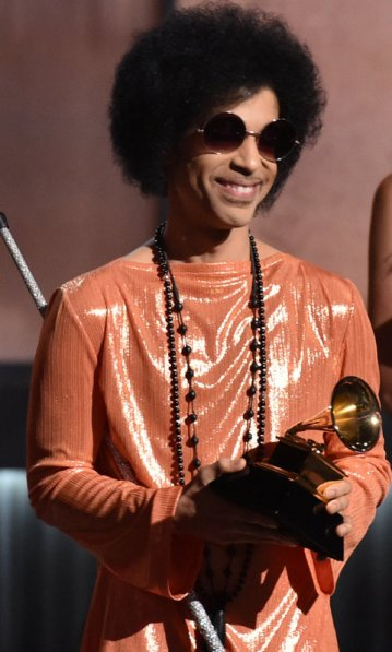 Prince at the Grammy Awards in February.