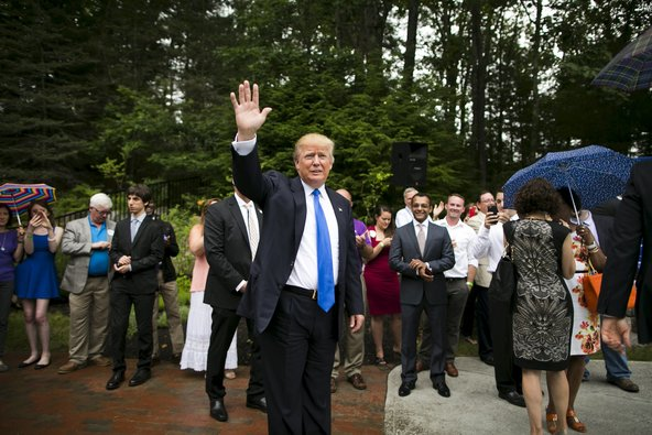 Donald Trump, who is seeking to become the Republican Party's nominee for president, at an event in Bedford, N.H., on Tuesday.