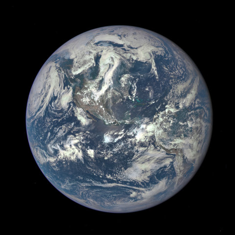 Most previous images of the entire Earth have been composites. This one, acquired on July 6 by a special camera on the<a href=