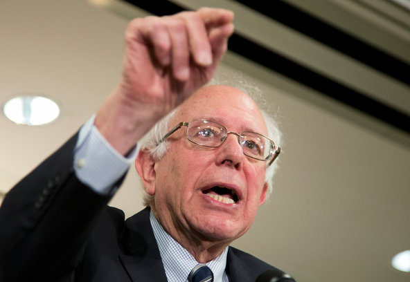 Senator Bernie Sanders of Vermont during a news conference in Washington on Thursday.