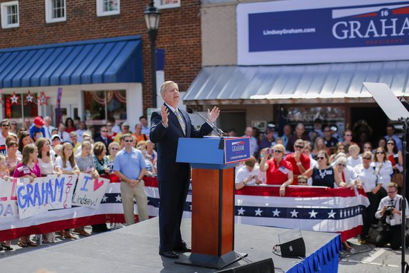 Senator Lindsey Graham announced presidential candidacy in Central, S.C., on June 1.