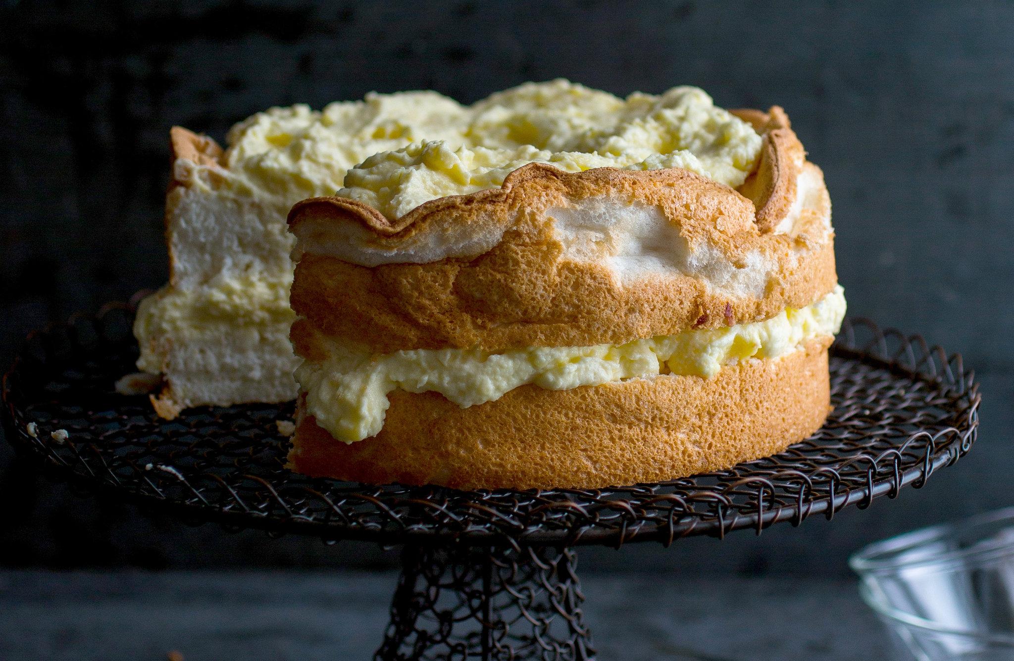 Lemon Angel Food Cake With Preserved Lemon Curd Recipe