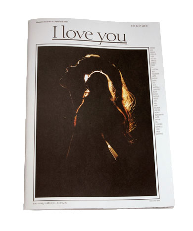 I love you magazine cover
