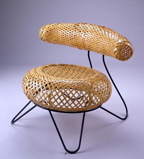 Isamu Noguchi Bamboo Basket Chair, 1950