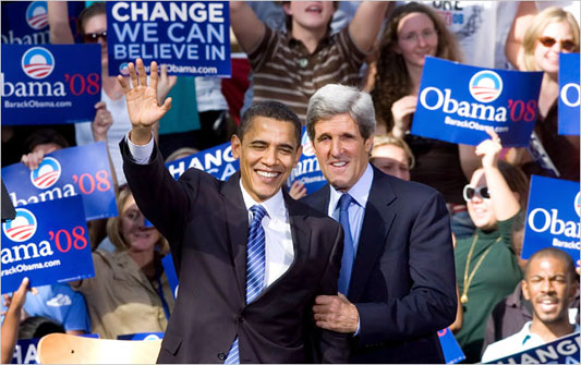 Barack Obama and John Kerry: dream team