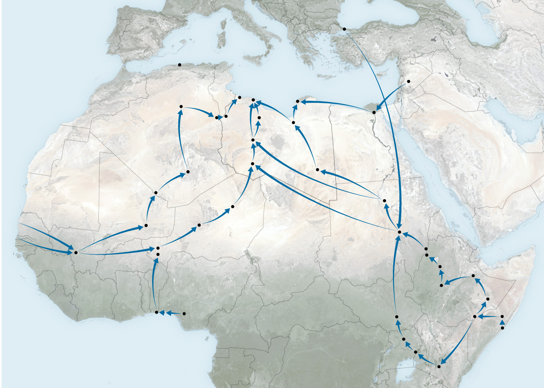 Οι πορείες που ακολουθούνται μέχρι οι πρόσφυγες να φτάσουν στην Ευρώπη