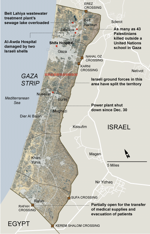 Detail Map of Norther Gaza