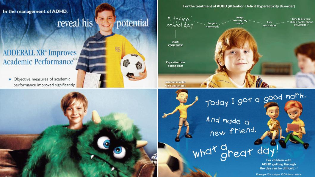 Image result for marketing children for prescription drugs