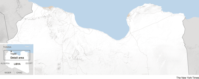 Base map of Libya
