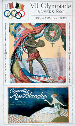 Program 1920 Antwerp Games with Cigarette Ad