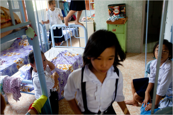 HIV-positive orphans at the Mia Hoa orphanage in Vietnam