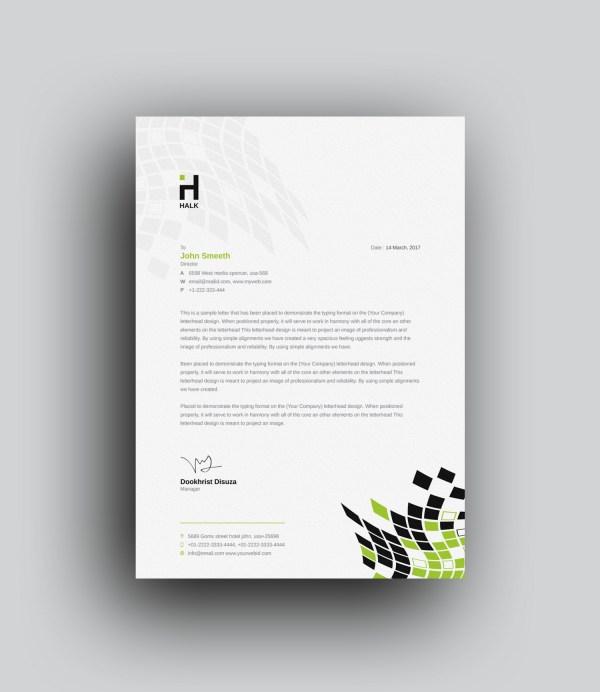 Alastor Professional Corporate Letterhead Template