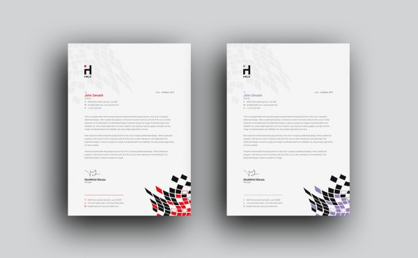 Alastor Professional Corporate Letterhead Template