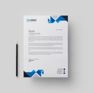 Angel Professional Corporate Letterhead Template