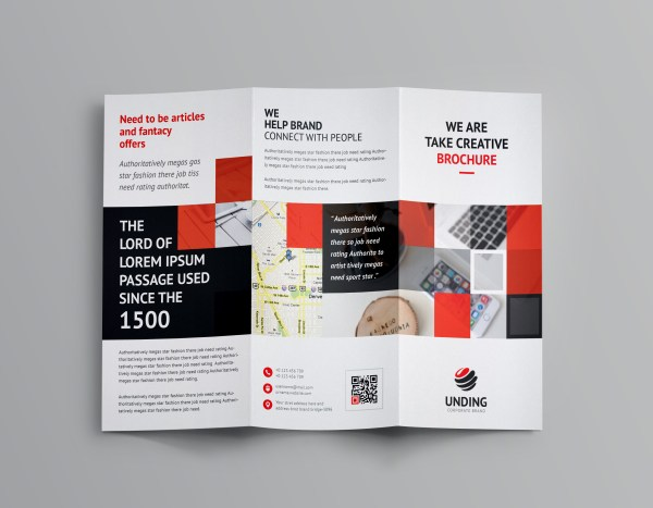 Angular Corporate Tri-Fold Brochure Template