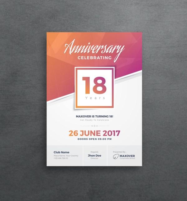Apollo Elegant Anniversary Invitation Template