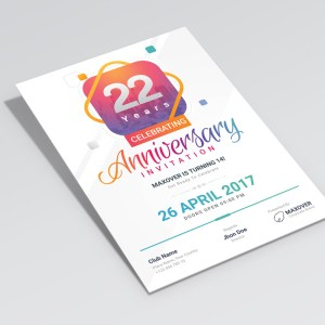 Ares Elegant Anniversary Invitation Template