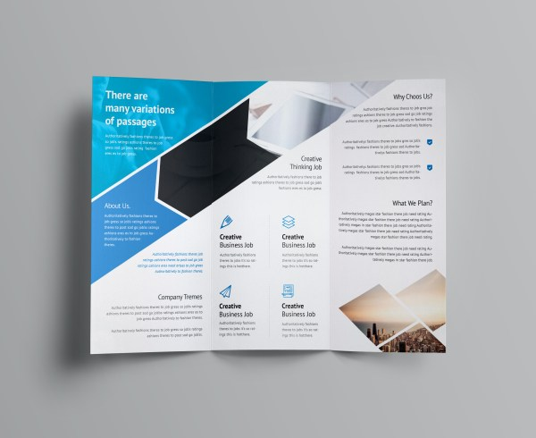 Arrow Corporate Tri-Fold Brochure Template