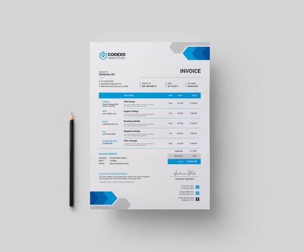 Arrow Stylish Corporate Invoice Template