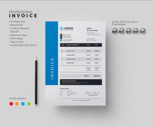 Atom Professional Corporate Invoice Template