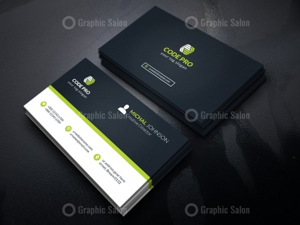 Automotive Stylish Business Card Template