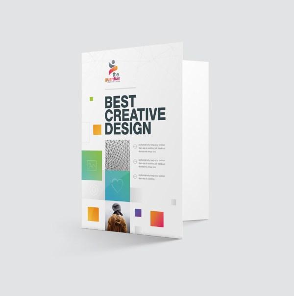 Best Creative Presentation Folder Template