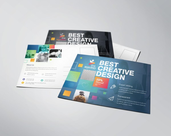 Best Creative Stylish Postcard Template