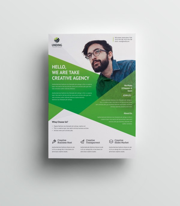 Cerberus Elegant Premium Business Flyer Template