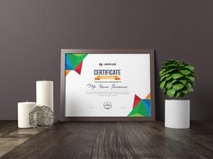Colorful Landscape Certificate Template