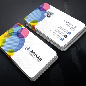 Colorful Loop Professional Corporate Business Card Template