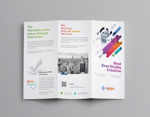 Colorful Professional Tri-Fold Brochure Template