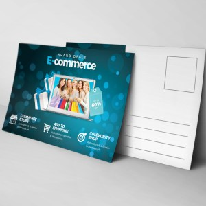 Commerce Elegant Postcard Template