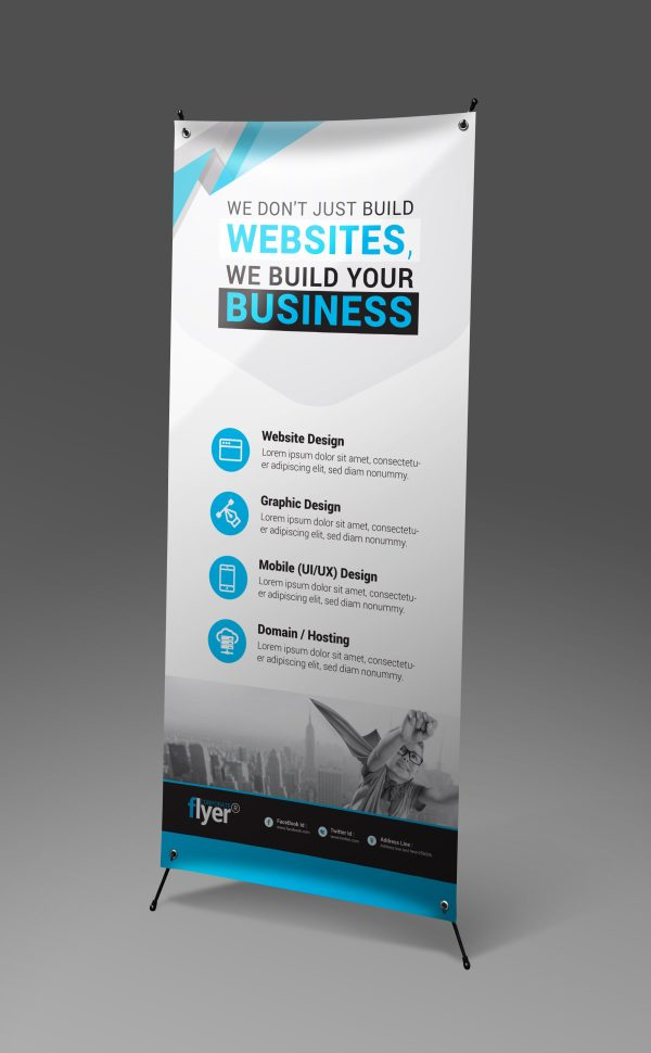 Construction Roll-Up Banner Design Template 4