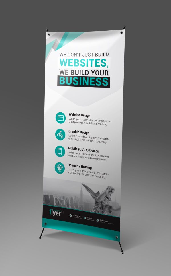 Construction Roll-Up Banner Design Template 6