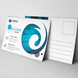Cyclone Modern Elegant Postcard Template
