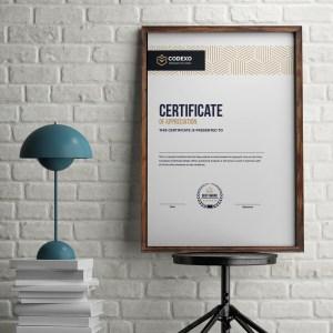 Demeter Elegant Portrait Certificate Template