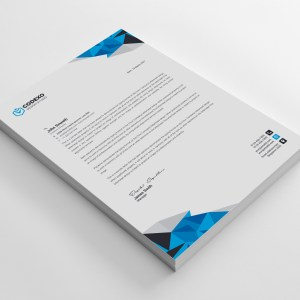 Diamond Professional Corporate Letterhead Template