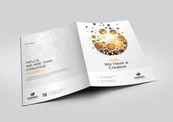 Dots Modern Corporate Presentation Folder Template