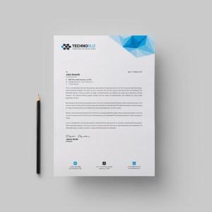 Echo Professional Corporate Letterhead Template